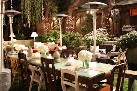 outdoor and patio backyard wedding decorations combined with