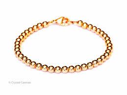 rose bead bracelet images 14k rose gold bead bracelet 6mm women 39 s and men 39 s bracelet jpg