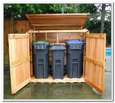 Outdoor Storage Cabinet Trash Can Storage Outdoor Outdoor Trash Bin Storage Pinterest