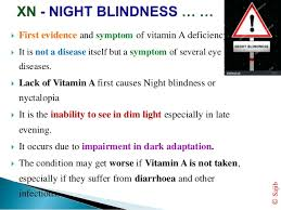 Vitamin A Deficiency Causes Night Blindness Lack Of Vitamin K Causes Night Blindness Best Blind 2017