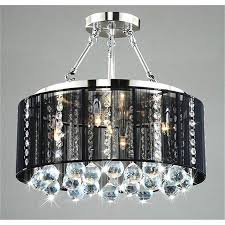 black crystal pendant light black drum chandelier amazing with crystals the aquaria lights up