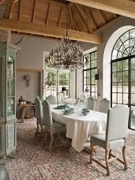 orangery dining room french doors brick floor sunroom