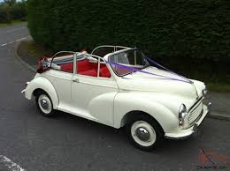 morris minor 1000 convertible white
