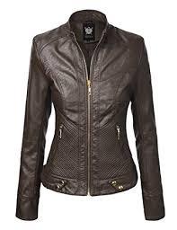 buy biker jacket ll womens quilted biker jacket at amazon women s coats shop