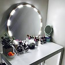 Diy Makeup Vanity Mirror With Lights Amazon Com Penson Lighted Mirror Led Light For Cosmetic Makeup