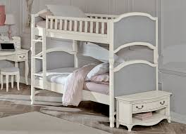 NE Kids Victoria Twin Upholstered Bunk Bed Antique White Kids N - Upholstered bunk bed