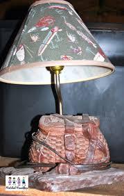 fly fishing home decor fly fishing fisherman u0027s basket table desk lamp vintage