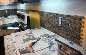Rock Backsplash Kitchen by How To Install Stone Tile U2013 Otago Kitchen Backsplash Design 4 Less