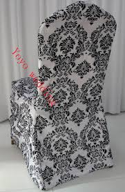 black and white chair covers online get cheap white and black damask flocking chair covers