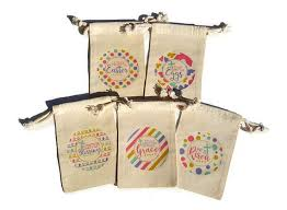 Church Favors by Religious Easter Gift Bags Set Of 10 Muslin 4x6 He Is Risen