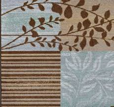 Blue Brown Area Rugs Modern Area Rug Contemporary Carpet Mocha Blue 2 X 5 Runner