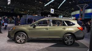 subaru outback 2018 white 2018 subaru outback brings well thought out facelift to new york