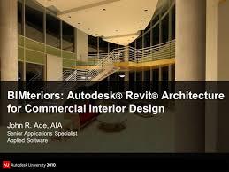 bimteriors autodesk revit architecture for commercial interior