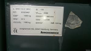 jungheinrich eks 110 z forklift trucks 2006 nettikone
