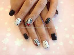 easy nail art black silver tape mani youtube nail art with black