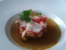 selune cuisine homard bleu grecque de légumes consommé de carapace picture of