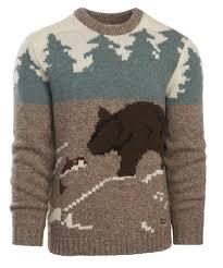 woolrich sweater s outdoor motif wool sweater by woolrich the original