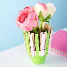 kids u0027 clothespin flower pot