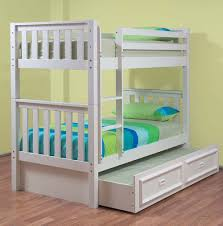 Bunk Beds With Trundle Bed Stylish White Bunk Beds With Trundle Loft Bed Design