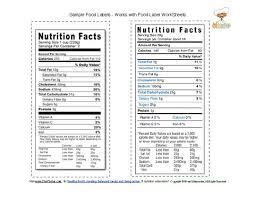 food label sample sheets 4