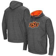 men u0027s colosseum charcoal oklahoma state cowboys big logo pullover