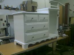 Baby Dresser Changing Table Combo Combo Baby Changing Table Dresser White By Krweatherl