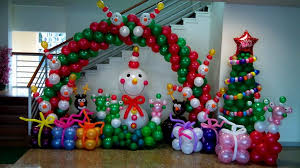 christmas balloon decoration for christmas party decorations diy