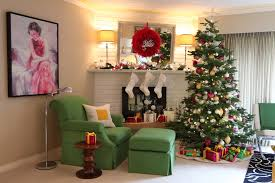 painted brick fireplace living room eclectic with christmas tree