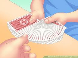 How To Make A Card Fall Through A Table With Pictures Wikihow