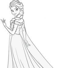 dessins de coloriage la reine des neiges en ligne à imprimer