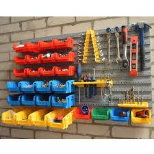 wolf wall mount storage bins u0026 panel rack set 43 piece garage