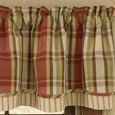 Chocolate Brown Valances For Windows Primitive Curtains And Country Valances For Country Home Decorating