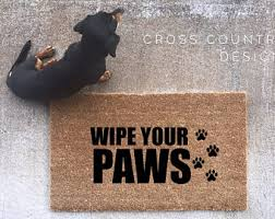 Wipe Your Paws Dog Doormat Please Hide Packages From The Husband Door Mat Custom Door