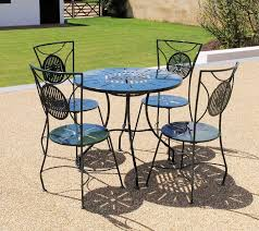 green metal outdoor table metal garden furniture sets weather resistant chris bose