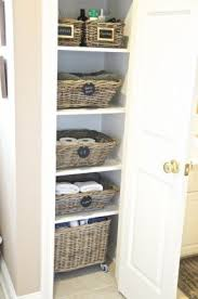 How To Organize A Bathroom Wicker Linen Cabinet Foter