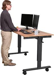 Adjustable Height Desk by Amazon Com 60