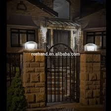 solar lights for driveway pillars outdoor solar lights for pillars outdoor lighting