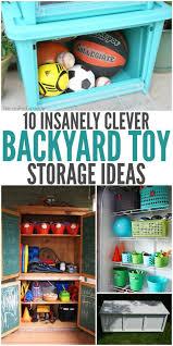 Toy Storage Ideas Backyard Toy Storage Ideas