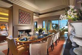 prestigious nuance of elegant dining room which is furnished with