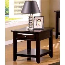 Espresso Accent Table Furniture Of America Accent Tables Living Room Furniture The