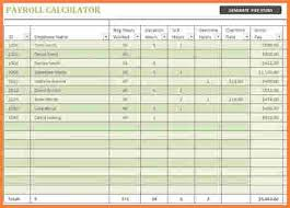 Excel Payroll Calculator Template 10 Excel Spreadsheet For Payroll Excel Spreadsheets