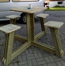 Best Wood To Make Picnic Table by 13 Best Picnic Tables Images On Pinterest Home Wood And Diy