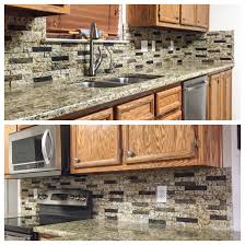 kitchen backsplash a custom color blend of recycled granite split