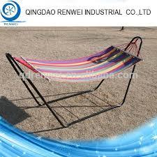 heavy duty steel outdoor portable canvas folding hammock stand