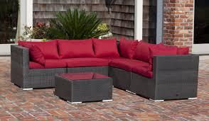 patiosense sino wicker sofa set u0026 reviews wayfair