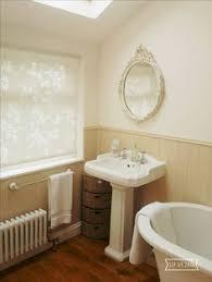 homebase butterfly white roller blind 60cm bathroom