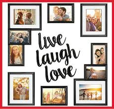 9 piece picture photo frame set live love laugh gallery wall art