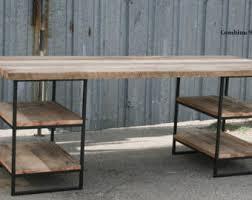 Modern Rustic Desk Modern Industrial L Shaped Desk Steel And Reclaimed Wood Desk