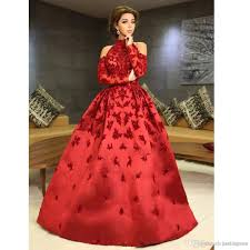2017 newest ball gown red full beading bling african custom made