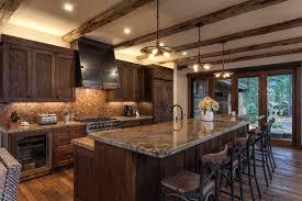 kitchen room red brick backsplash landscape decorating ideas
